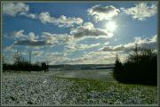 Zima kousek od Karlštejna