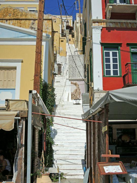 Příkré uličky se schody