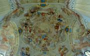 Malovaný strop kostela