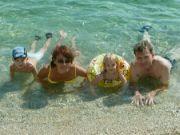 Chorvatsko 2007 (04)-první koupání
