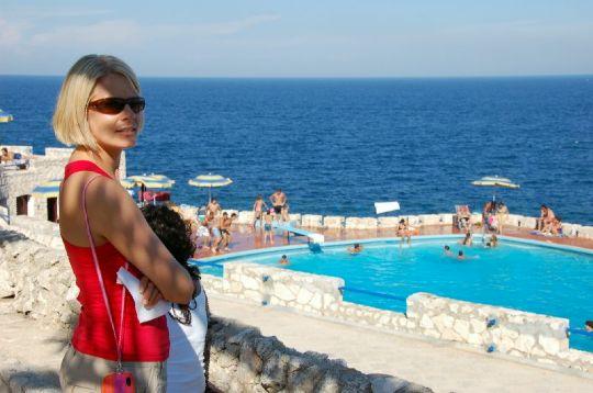 27 bazén v Grotta Zinzulusa