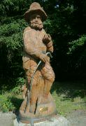 Dřevěná socha rytíře Fabiána