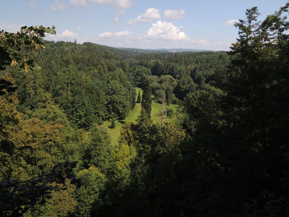Výhled z Rýzmburského altánu