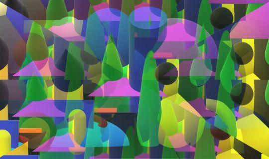 Abstrakce města variace 2