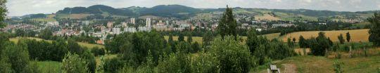 Výhled na Nové Město na Moravě