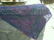 modro-fialový bavlna s hedvábím