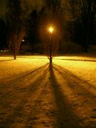 zimně noční motiv
