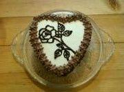 čokoládový dort- srdce