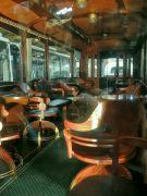Interiér vyhlídkové tramvaje