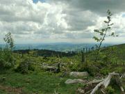 Výhled z Plechého do Rakouska