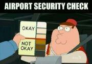 Airport security check.